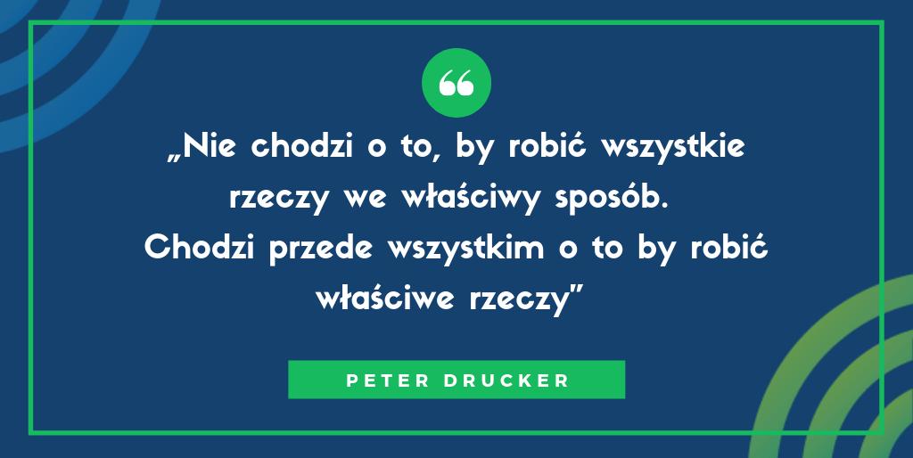 cele smart w sprzedaży przykłady - Peter Drucker