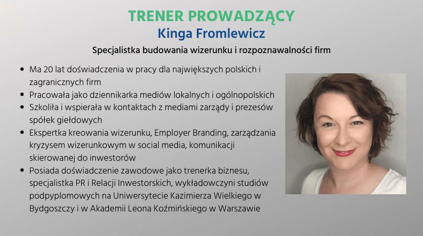 Kinga Fromlewicz - trener BUR