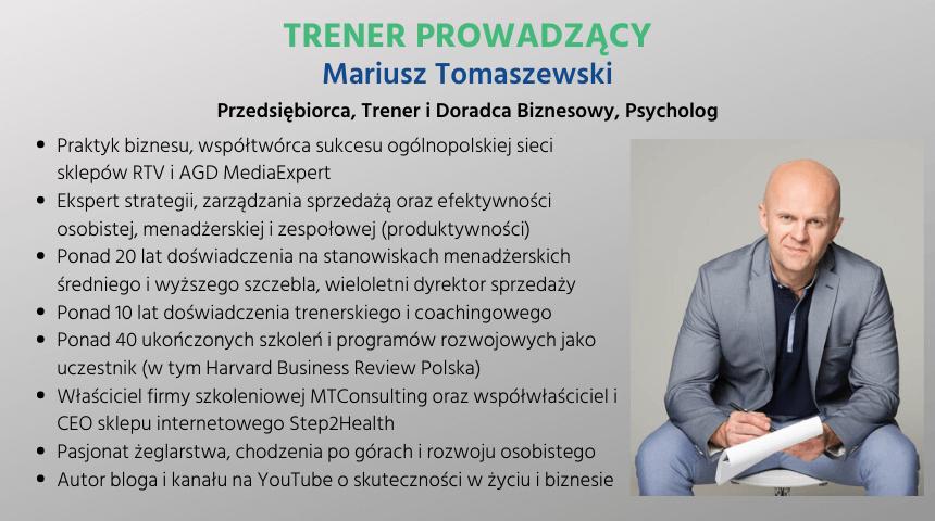 Mariusz Tomaszewski - Trener, Coach, Psycholog